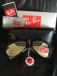 black Ray-Ban aviator sunglasses with box Edmonton, T5X 6B7