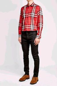 women's red and black plaid dress shirt Pleasant Hill, 94523