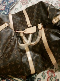 black and brown Louis Vuitton leather tote bag Toronto, M9C 3B5