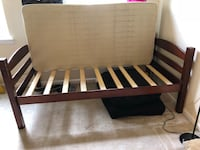 Brown wooden bed frame with white mattress Centreville, 20121