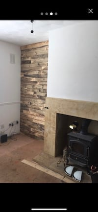 Rustic pallet wood cladding