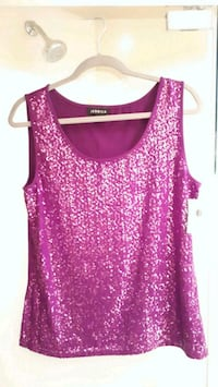 New Sequined top with tag. Toronto, M1H 1S1