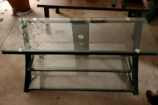 Used 3 Level Glass Tv Stand For Sale In Reston Letgo