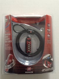 Universal mobile security cable lock.