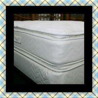 Twin mattress double pillow top with boxspring Washington, 20018