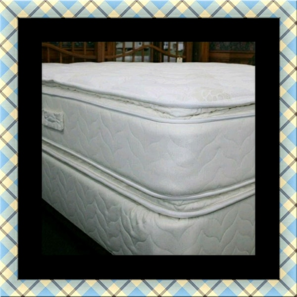 Twin mattress double pillow top with boxspring