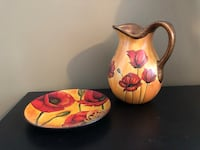 Decorative plate and pitcher ser 537 km
