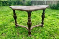 Antique half circle accent table stand  Waterford, 12188