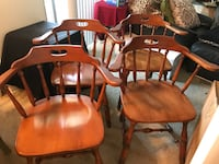 Captain Chairs-Solid Wood set of 4 San Jose, 95129