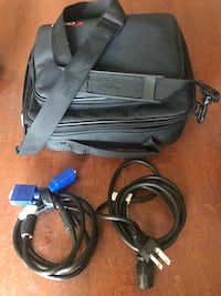 Black and blue corded power tool