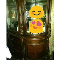 Vintage cherry brown china cabinet New York, 11223