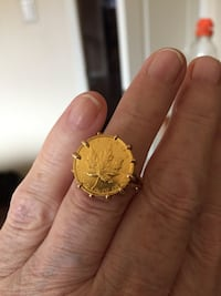 Maple leaf Gold14k Ring