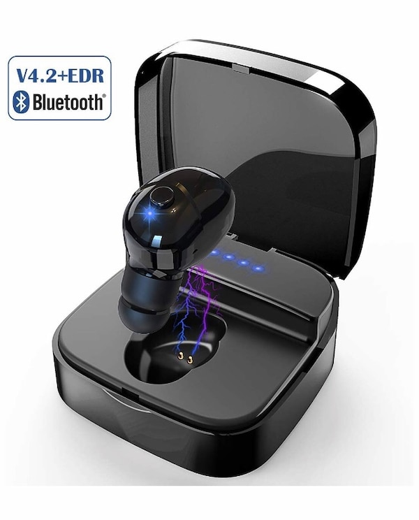 Brand new Mini Bluetooth Earbud, V4 2 Wireless Headphone with HD Mic &  Charging Case for iPhone and Android Smart Phones