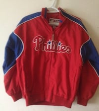 red and blue Phillies zip-up jacket Victoria, V8T 1E7