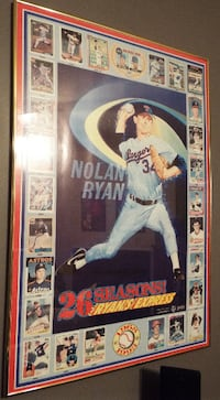 REDUCED! - Nolan Ryan Express 26 Seasons framed poster Rockville