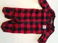 ROOTS Buffalo plaid infant onesie