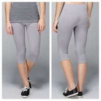 Lululemon In The Flow Crops gray new stretch run running size 10