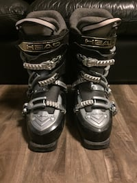 Pair of black and grey head women's ski boots size 8-9 Sherwood Park, T8A 5S6
