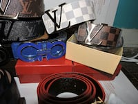 assorted-brand leather belts