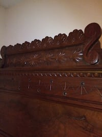 Antique Eastlake bed frame with tall head board , size Full Norfolk, 23510