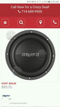 black and gray Pioneer subwoofer Las Vegas, 89149