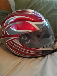 red and black full-face helmet Indianapolis, 46224