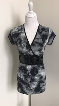 black and gray floral sleeveless dress Coaldale, T1M 1G8