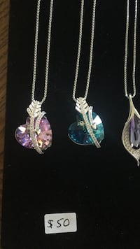 White gold plated Crystal from Swarovski necklaces Richmond Hill, L4E 0L5