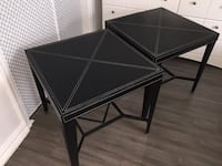 Black leather side tables two end tables coffee table set furniture  Toronto, M6B 3H9