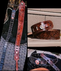 Handmade/ Hand tooled Leather Guitar Straps  Tiverton, 02878