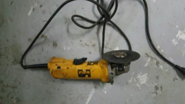 orange and black corded power drill