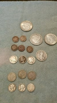 assorted-denomination coin lot
