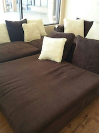 brown chaise couch