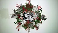 green red and gray floral christmas ornament wreat Lunenburg, 01462
