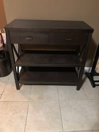 Dark brown  2-layer shelf with drawers-target  Nashville, 37204