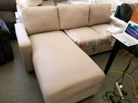 white and brown fabric sectional sofa Montclair, 91763