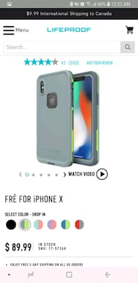 NEW LIFEPROOF FRĒ iPHONE X GRAY DROP IN CASE  Toronto