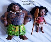 Disney Moana and Maui doll set - $15 Toronto, M9B 6C4