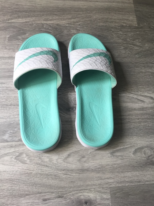 Nike sandals, those are very comfy, clean.