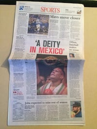 Julio Cesar Chavez newspaper clipping  Toronto, M5V 0H8
