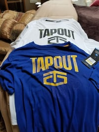 blue and white tapout moisture control tees. shirt Algonquin, 60102