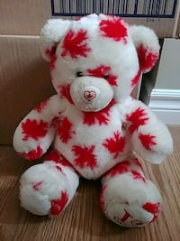 white and red bear plush toy London, N5W 1B1