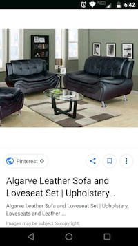 black leather sofa set  Yakima