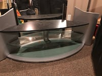 black glass top TV stand Langley, V3A 5S8