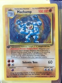 1st edition Machamp Pokémon card Howey-in-the-Hills, 34737