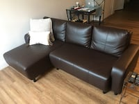 Espresso leather Sofa 44 km