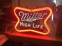 Red and white miller high life neon light signage Warren, 44483