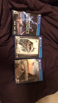 Three assorted ps4 games null