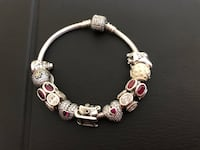 Authentic pandora bracelet with 11 charms. Xmas bracelet  Pickering, L1V 4X1