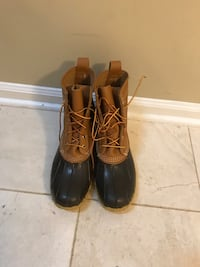 Mint condition LL Bean Duck Boots size 10 men's